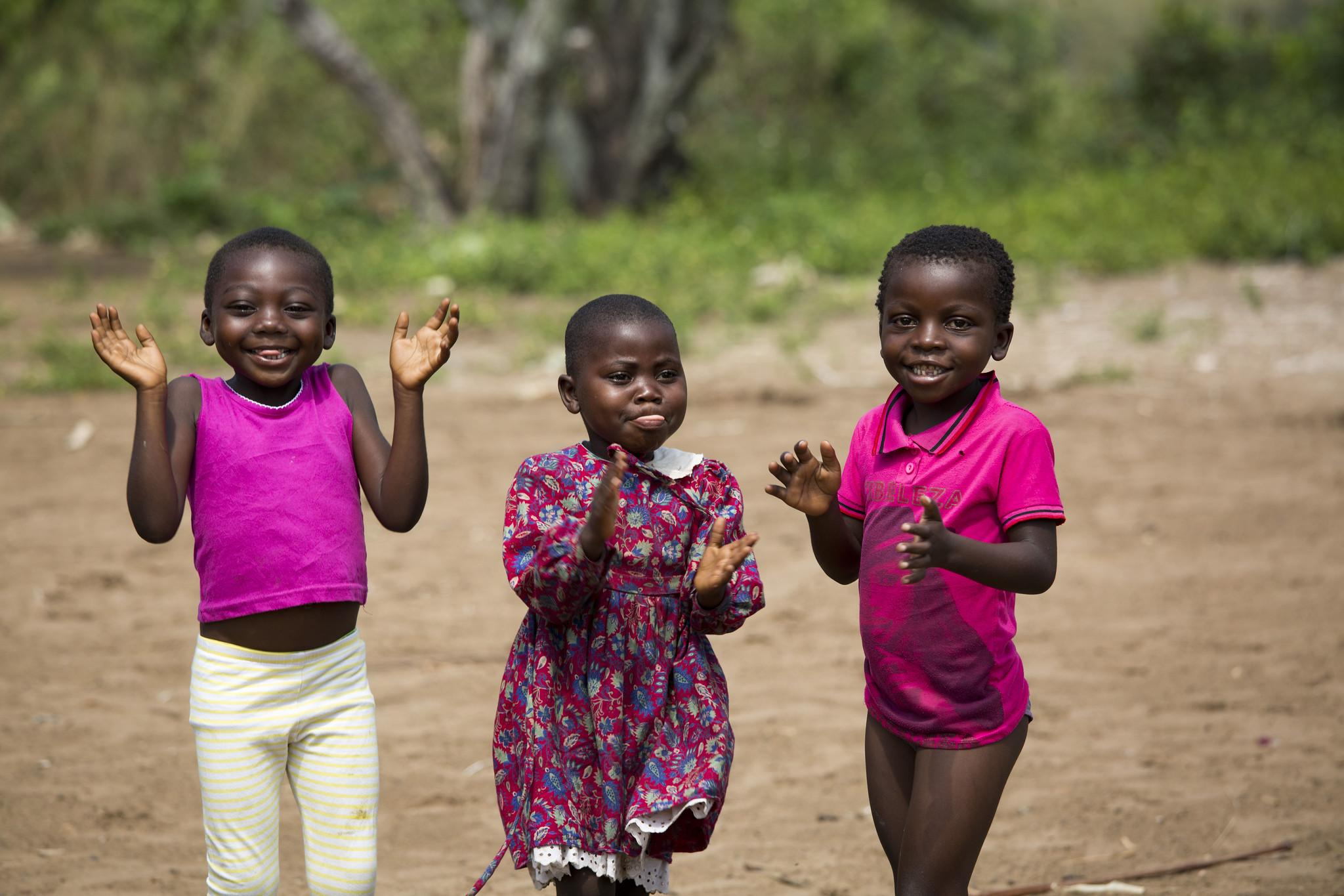 DRC children enjoying themselves