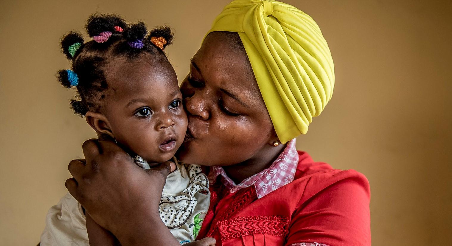 Nigeria woman and baby